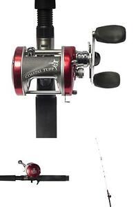 Coastal Tuff 7 Rod and Baitcast Combo Medium Action Baitcast Reel Fishing New