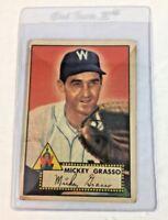 1952 Topps #90 Mickey Grasso Washington Senators Baseball Card