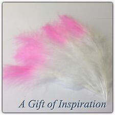 5 x Pink Tipped Veniard Turkey Marabou Plume Feathers 8-16cm DIY Craft Millinery