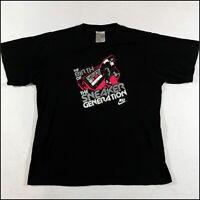 Nike Air Sneaker Generation T-Shirt | Medium | Black | Rare 90s Y2K