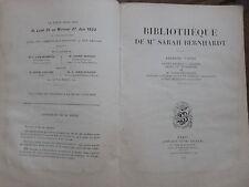 BIBLIOTHEQUE DE MME SARAH BERNHARDT.Première partie.Quelques prix d'adjudication