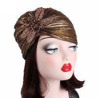 Fashion Muslim Women Ruffle Wrap Head Cap Turban Indian Chemo Beanie Bonnet Hat