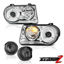 Clear Headlight Pair New Wiring Harness L+R Foglamp 2005-2010 Chrysler 300C SRT8