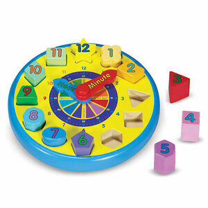 Melissa and Doug Classic Toy - Shape Sorting Clock