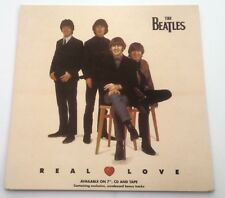 BEATLES Real Love ORIGINAL SHOP PROMO DISPLAY size:12x12 inches