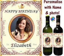 Étiquette Bouteille Vin personnalisé-toute photo + un nom-cadeau idéal pour les amateurs de vin