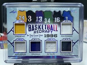 2020 Leaf In The Game Used 1996 Redraft Basketball Jersey Patches PURPLE 1/12