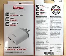 Wholesale Lot of 90 HAMA 4.8 AMP DUAL USB Home Chargers for Phone & Tablet