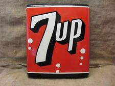 Vintage Curved Stout 7up Sign > Antique Old Cola Soda Pop Store Signs 8427