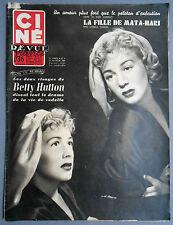 ►CINE REVUE 8/1955-BETTY HUTTON-DANY CARREL-LINE RENAUD-ALAN LADD-JOHN ERICSON..