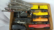 VTG Lot Lionel Post War Engine1615 Tender,Train Cars,Tracks & Switch Transformer