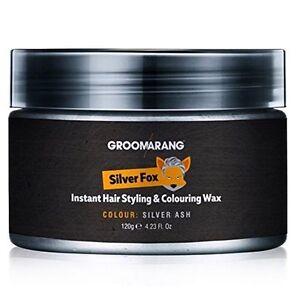 Styling Hair Wax For Men Silver Grey Ash Colour Pomade Hair Wax Colour Hair Dye