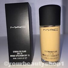 New Mac Foundation Studio Fix Fluid Foundation  SPF 15 NC25 100% Authentic