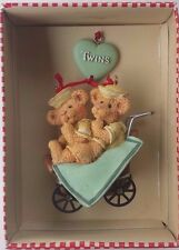 "Holly Bearies ""TWINS"" Teddy Bears Ornament by Kurt Adler (SALE!) New in Box"