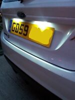Ford Fiesta MK7 MK 7 LED White NUMBER PLATE BULBS LIGHTS - T10 501 Error Free