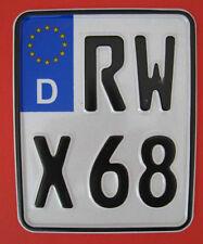 Sportkennzeichen/Wettbewerbskennzeichen/EURO-Enduro-Kennzeichen