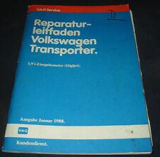 Werkstatthandbuch VW Transporter T3 1,9 Liter Einspritz Motor Digijet Stand 1988
