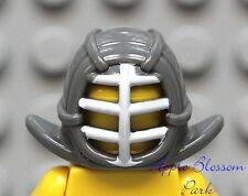 NEW Lego Ninjago Minifig Gray KENDO HELMET - Kai Zane Cole Ninja Mask Head Gear
