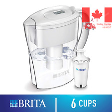 Space Saver Water Filter Pitcher with 1 Standard Filter White 6 Cup - 642364PAK7