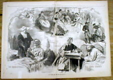 1862 illustrated newspaper wLarge WINSLOW HOMER engraving WOMEN IN THE CIVIL WAR