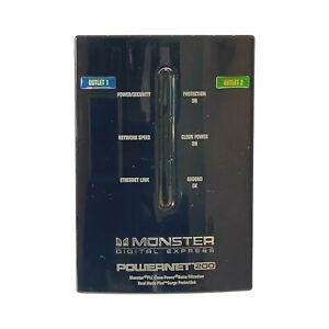 Monster PowerNet PN 200 Powerline Network Module Clean Power From Wall Plug Hub