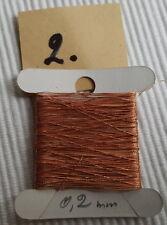Antik:  1 Kärtchen ca.10m Effekt Brokat GARN Stickerei Kupfer Ø 0,2 mm Nr.2