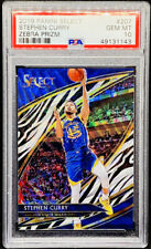 Stephen Curry 2019-20 Panini Select Courtside Zebra Prizm SSP PSA 10