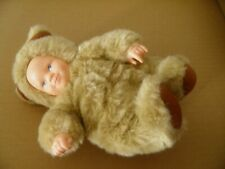 ANNE GEDDES TEDDY BEAR DOLL WITH PLASTIC FACE AND HANDS SOFT TOY