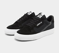Mens adidas Originals Continental Vulc Casual Shoes Core Black/Footwear Size 9.5