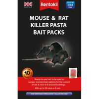 Rentokil Mouse & Rat Killer Pasta Bait Packs 10 x 10g Sachets Sachet New Formula