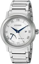 Citizen Eco-Drive Men's AW7020-51A Power Reserve Silver-Tone Bracelet 41mm Watch
