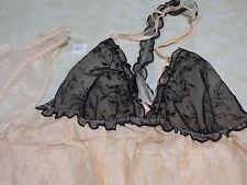 Victoria's Secret Lingerie Babydoll Slip Nightie SET w/ panty, Halter Racerback