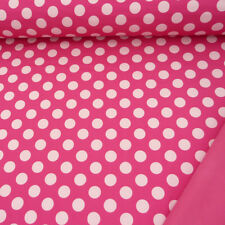 Softshell Fleece punkte rosa weiß 2cm