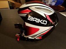 NEW BRIKO Indian Ski Snowboard Helmet  ROOKIE Childrens 54 CM XXS-XS RED/BLACK