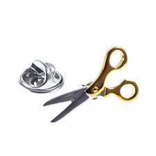 Two Tone Scissors Lapel Pin Badge XNP252