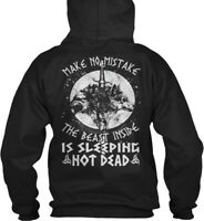 Printed Viking_odin_norse - Make No Mistake The Beast Gildan Hoodie Sweatshirt