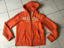 Sweat gilet HOLLISTER taille M orange bon etat
