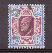 1905 F/usati KE7 SG251a 9d ARDESIA Viola & Blu oltremare su carta calcarei Lovely