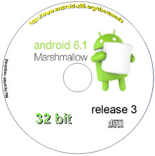 Android 6.1 r3 Marshmallow Live/Install 32 bit Complete O/S Boot disc CD