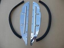 MGB  MGB GT V8 MGC, SET OF STAINLESS STEEL SPLASH PANELS & SEALS & FITTINGS BOLT