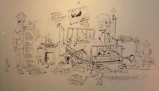 Franklin Arbuckle Canadian Artist Original Pen & Ink Drawing Medical Hospital