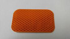 "3M Amber Rectangular Reflector Adhesive Mount 3-1/2"" x 2"" [LT264Y]"