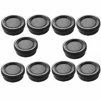 10pcs Plastic Rear Lens and Body Cap Cover for Pentax K PK Camera Black Sets