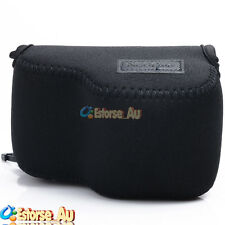 Neoprene Soft Camera Case Bag Pouch For Sony NEX 5T/5R/3N/A5000 16-50mm Black