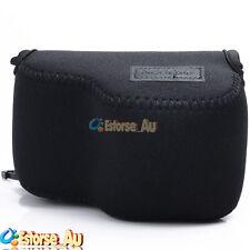 Neoprene Soft Camera Case Bag Pouch For Sony NEX 5T/5R/3N/A5000 16-50mm Black