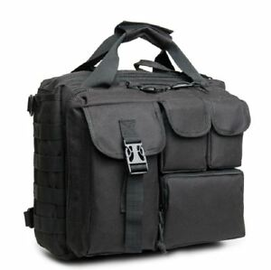 """Mens Military Tactical 17"""" Laptop Bag Briefcase Shoulder Messenger Nylon Handbag"""