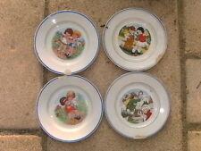 lot de 4 petite assiette ancienne décor enfant  collection