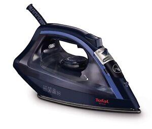 Tefal Virtuo FV1713 Steam Clothes Iron, 2000 Watt, Black/Blue-2 Years Warranty