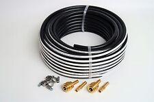 Druckluftschlauch 10 mm x 2,5 mm 25 m + 2x Kupplungssatz schwarz Luftschlauch