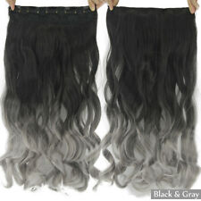 New Clip in Hair Extensions Piece Sexy Long Curly Human Hair Heat Resistant Wigs